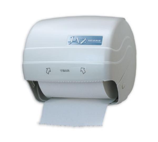 San Jamar T750 Classic Jaz Paper Towel Dispenser, Wall Mount, White Plastic