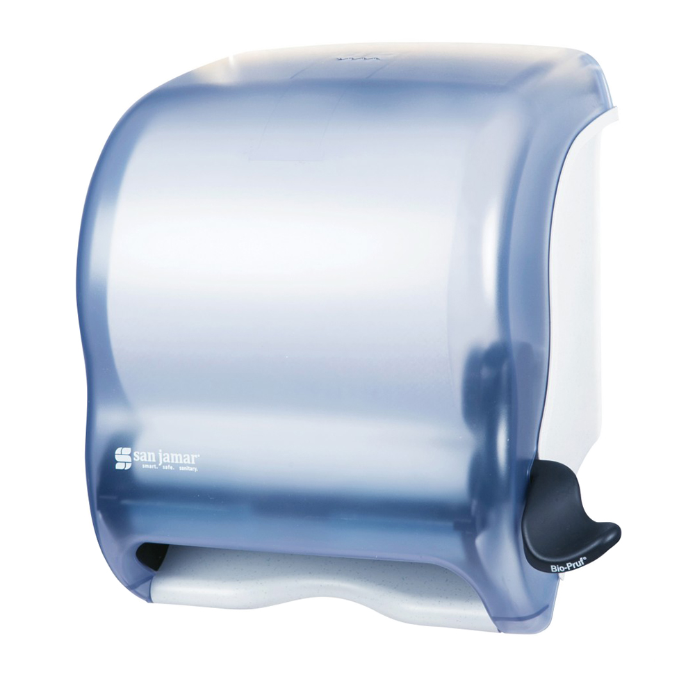 San Jamar T950TBL Paper Towel Dispenser, Lever Roll, Arctic Blue