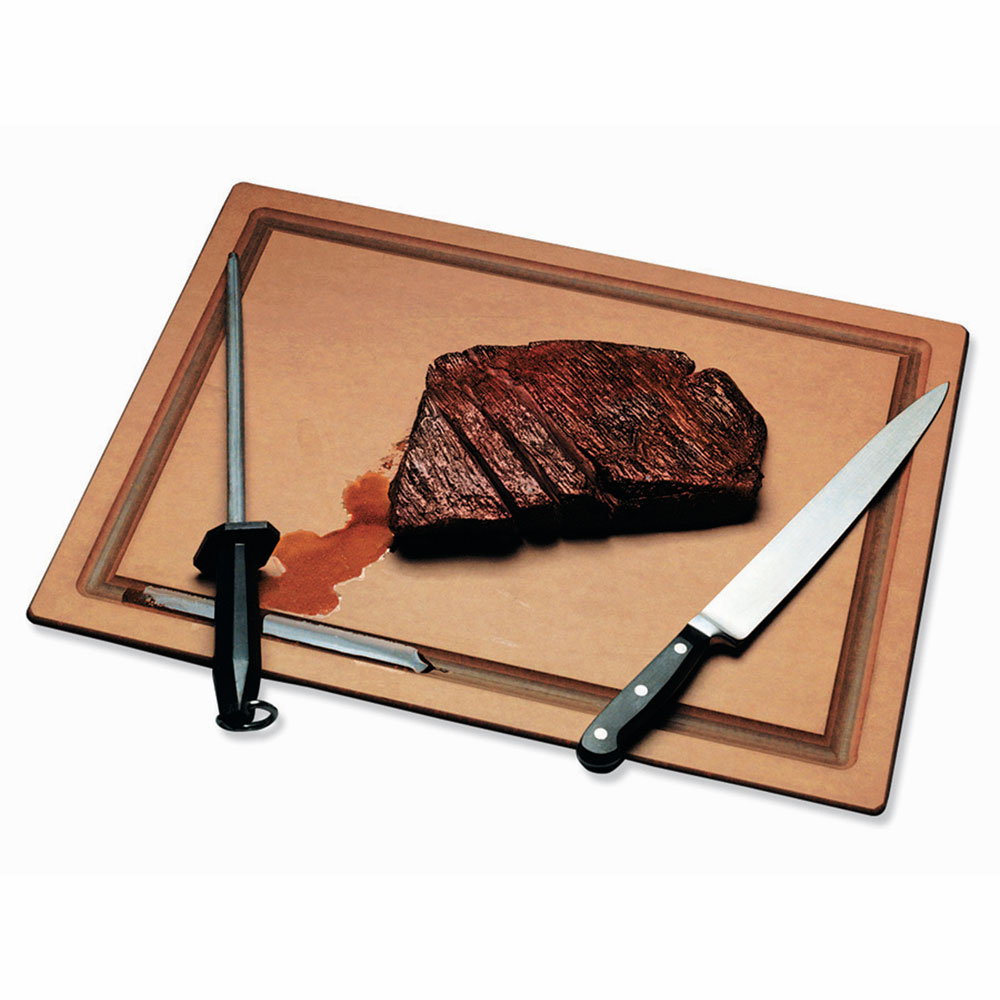 San Jamar TC152012GV Tuff-Cut Resin Cutting Board, Grooved, 15 in x 20 in x 1/2 in, NSF