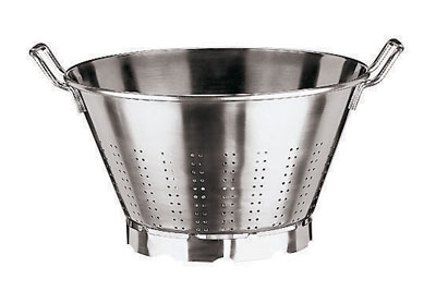 World Cuisine 11927-40 18-qt Vegetable Strainer w/ Dual Handl