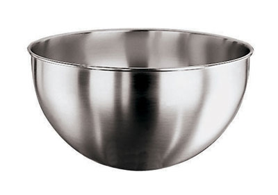 World Cuisine 11951-36 Round Bottom Mixing Bowl, 14.75-qt, Stainless