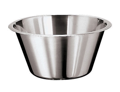 World Cuisine 12580-50 Mixing Bowl w/ Flat Bottom & Open Round Edge,