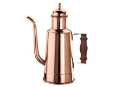 World Cuisine 41781-10 Oil Dispenser w/ Wood Handle, 1-1/8-qt, Copper