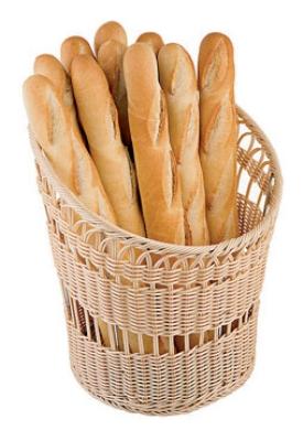 World Cuisine 42967-35 Baguette Basket, 13.75 x 16.5-in, Polyrattan