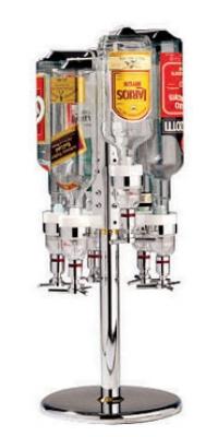 World Cuisine 44057-06 Revolving Bottle Rack, 10 x 27.