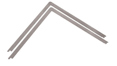 World Cuisine 47693-05 Ganache Frame, 15.75 x 1/4-in, Stainles