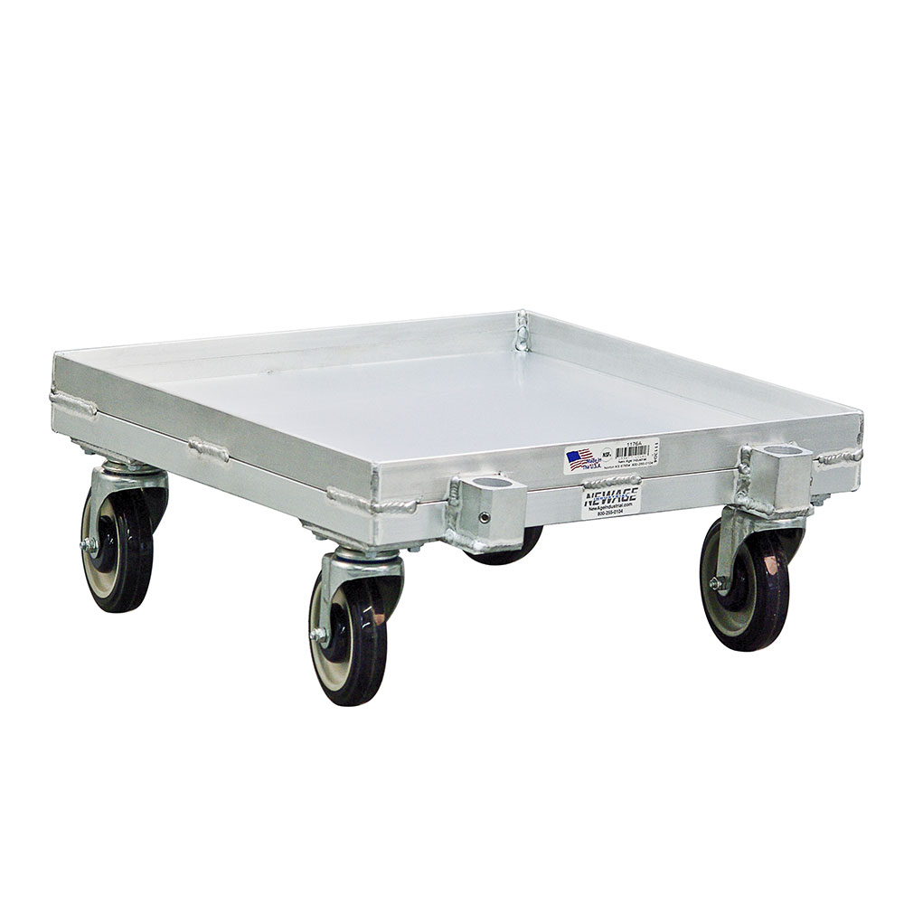 New Age 1176A Solid Design Dolly Cup Glass w/ 1200-lb Weight Capacity & Single Stack, Aluminum