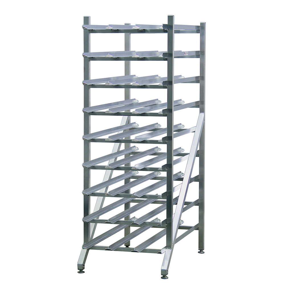 New Age 1256 Stationary Can Storage Rack w/ Adjustable Feet, (216)#10 O