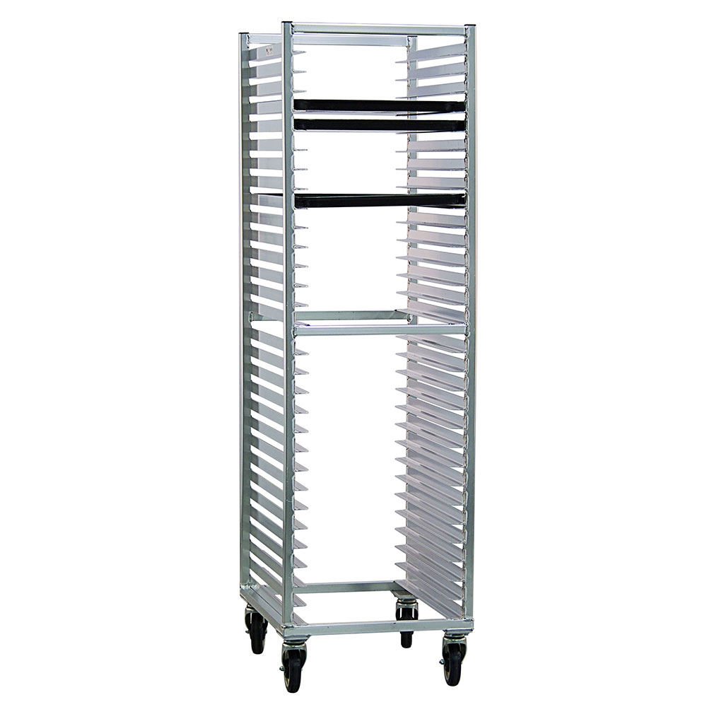 New Age 1330 Mobile Full Height Pan Rack w/ Open Sides & (30)18x26-in Pan Capacity, Aluminum