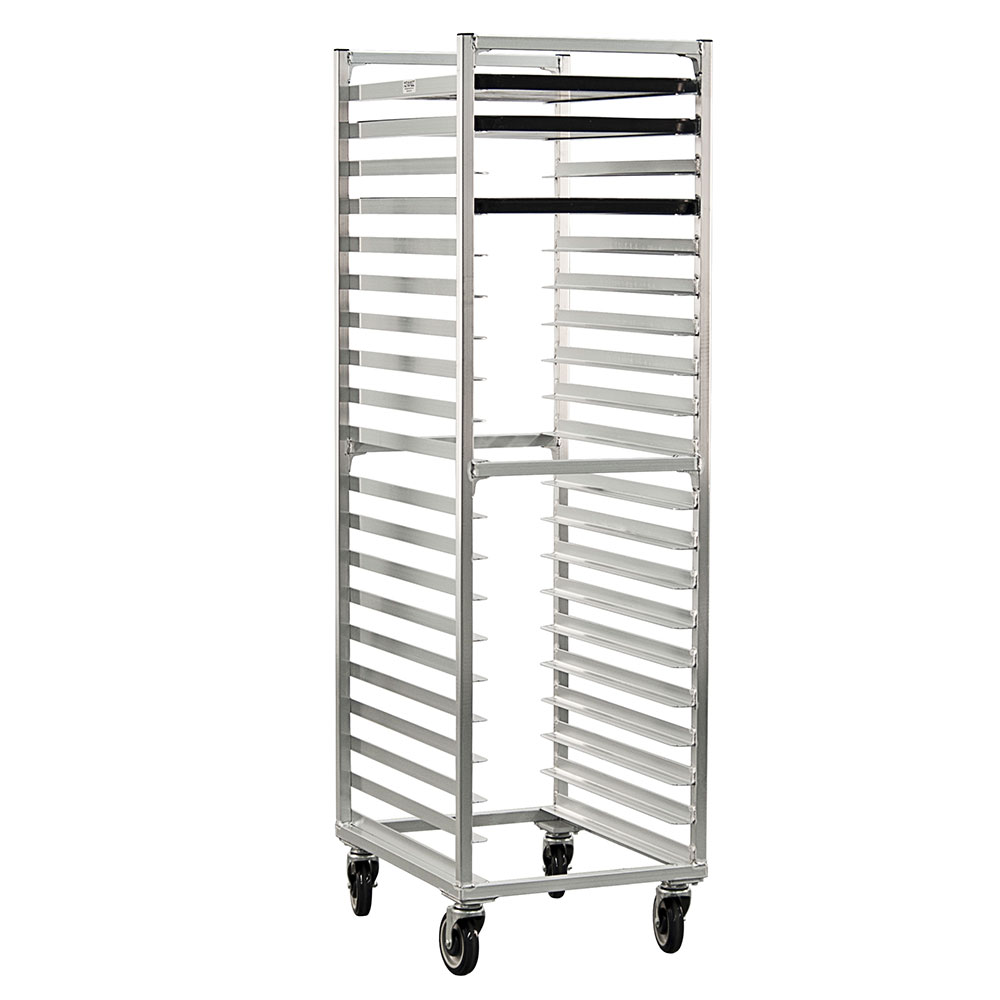 New Age 1331 Mobile Full Height Pan Rack w/ Open Sides & (20)18x26-in Pan Capacity, Aluminum