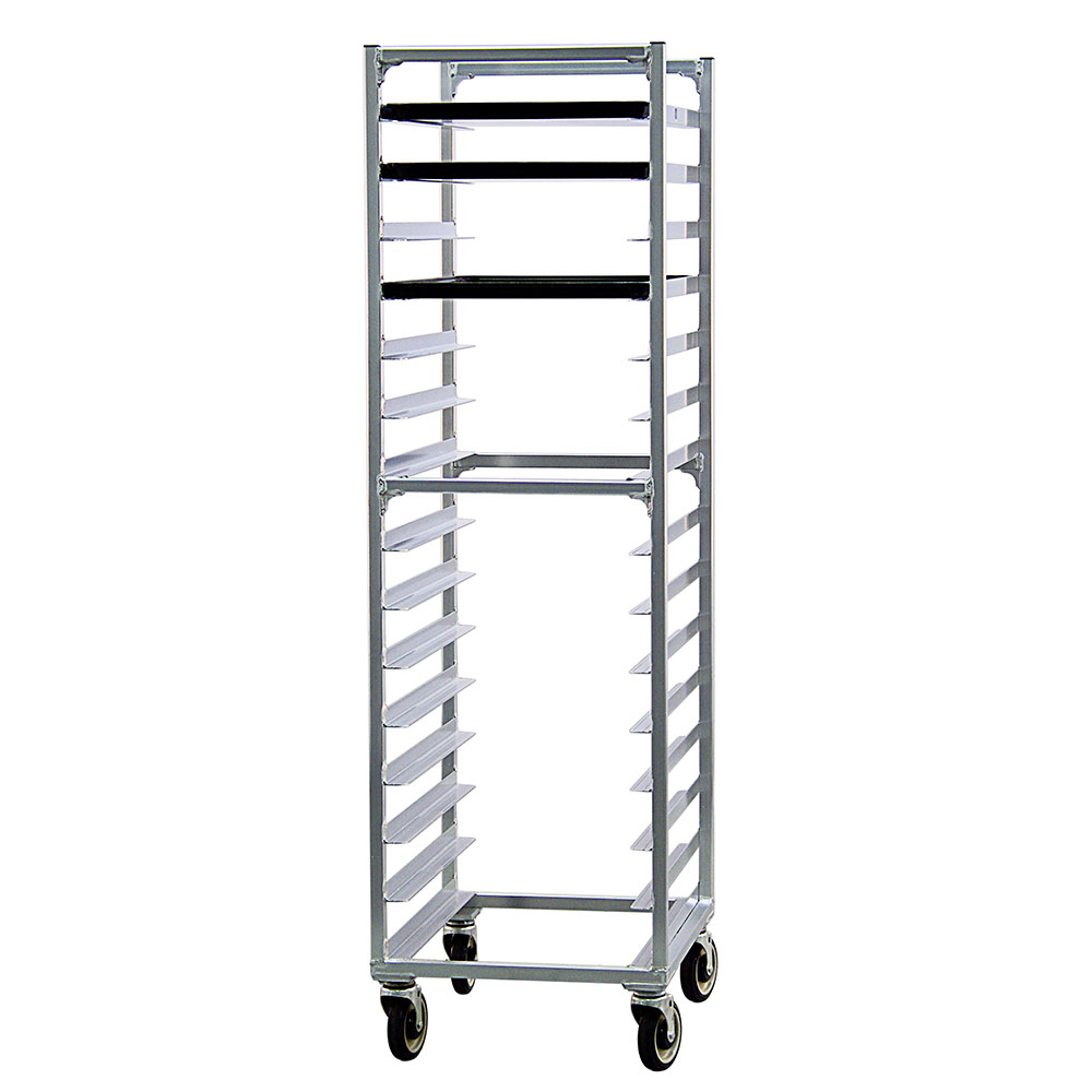 New Age 1332 Mobile Full Height Pan Rack w/ (15)18x26-in Pan Capacity, Welded Aluminum