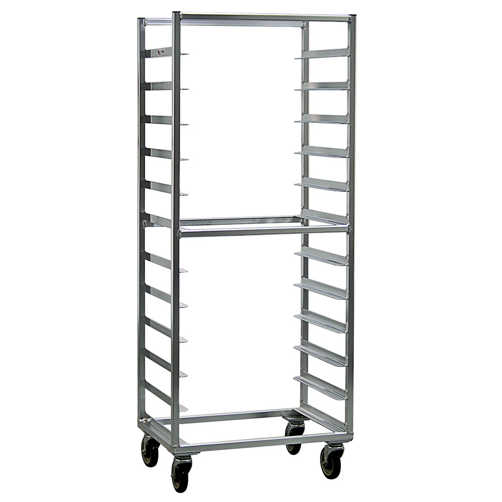 New Age 1333S Mobile Full Height Pan Rack w/ (12)18x26-in Pan Capacity & Side Loading Aluminum