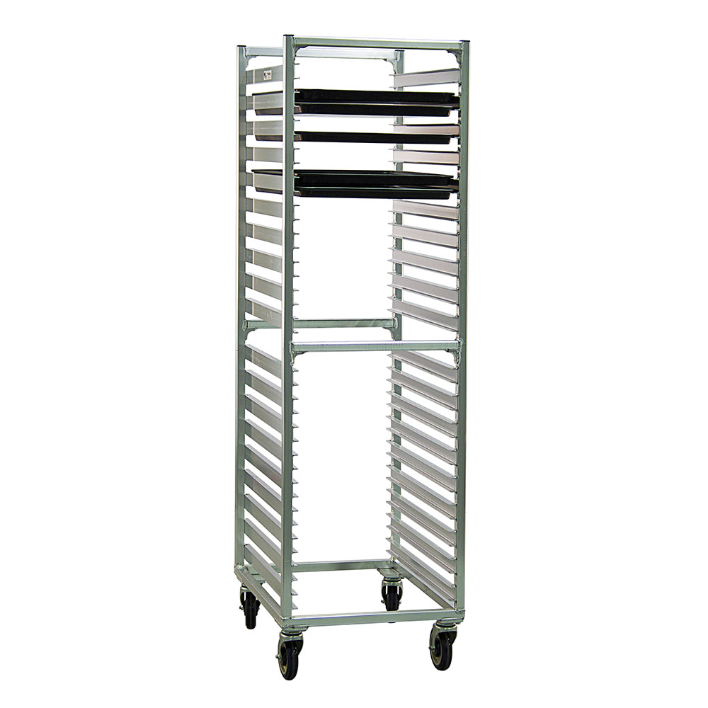 New Age 1461 Mobile Full Height Pan Rack w/ (38)18x26-in Pan Capacity & End Loading Aluminum