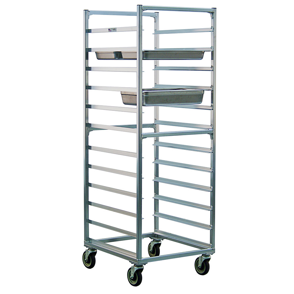 New Age 1507 Full Height Steam Table Pan Rack, Open Sides, (24)12x20-in Pan Capacity Aluminum