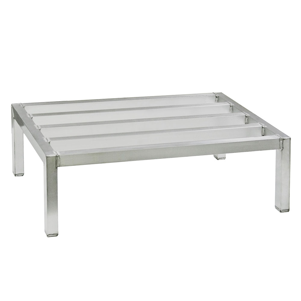 New Age 2008 1-Tier Square Bar Dunnage Rack w/ 2500-lb Capacity, 12x24x36-in, Welded Aluminum