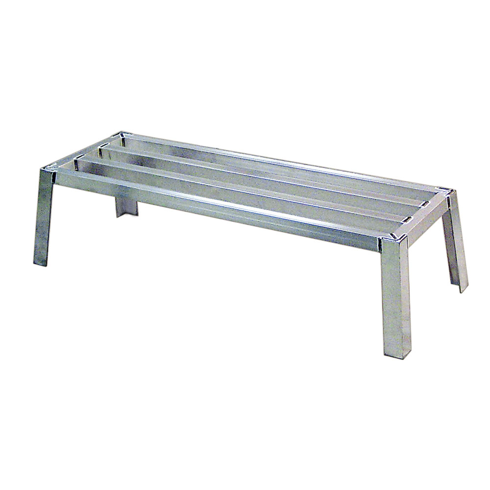 New Age 97171 1-Tier Square Bar Stacking Dunnage Rack w/ 3200-lb Capacity 12x20x24-in Aluminum