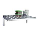 New Age 1122 Wall Mounted Shelf w/ T-Bar Design & 600-lb Capacity, 20x48-in, Aluminum