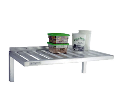 New Age 1121 Wall Mounted Shelf w/ T-Bar Design & 700-lb Capacity, 20x36-in, Aluminum