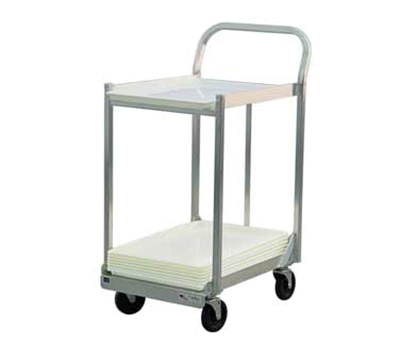 New Age 1194 2-Tier Sheet Pan Dolly w/ 800-lb Capacity & Sides, 44.5x21x30, Welded Aluminu
