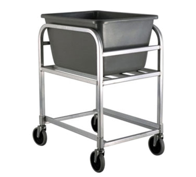 New Age 1275 Bulk Cart w/ 2.25-Bushel Capacity & Grey Tub, 35.25x19.75x26-in, Alu