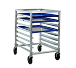 New Age 1314 Mobile Undercounter Pan Rack w/ Open Sides & (8)18x26-in Pan Capacity, Aluminum