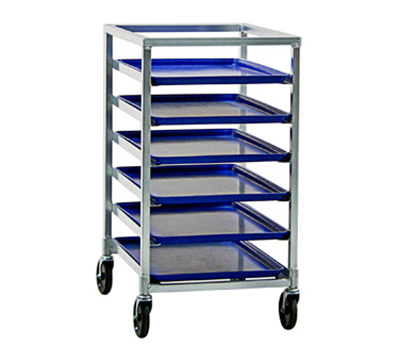 New Age 1322 20.38-in Mobile Pan Rack w/ Open Sides & (6)18x26-in