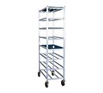New Age 1355M Universal Mobile Full Height Platter Rack w/ 8-Shelves, End Loading & Open Frame