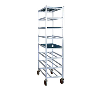 New Age 1355M Universal Mobile Full Height Platter Rack w/ 8-Shelves, End Loading