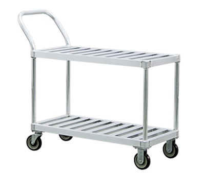New Age 1420 19x41-in Open Utility Cart w/ 2-T Bar Shelves & 800-lb Capacity, Aluminum
