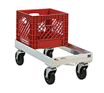 New Age 1620 Milk Crate Dolly w/ Open Frame & 8-Crate Capacity, 9x13.75x28.25-in, Aluminum