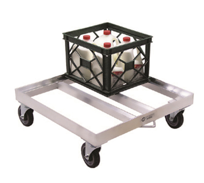 New Age 1622 Milk Crate Dolly w/ Open Frame & 16-Crate Capacity, 9x26.75x26.75-in, Aluminum