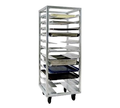 New Age 1635 Roll In Pan Rack w/ 12-Universal Guides &