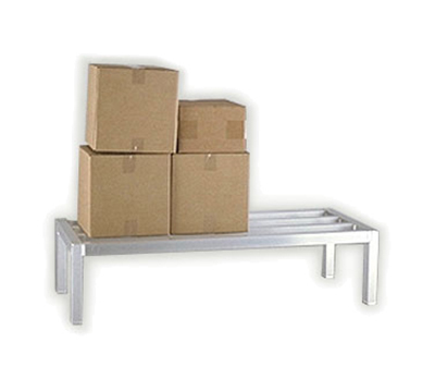 New Age 2052 Square Bar Dunnage Rack w/ 1-Tier & 3000-lb Capacity, 12x20x30-in, Aluminum