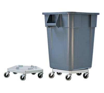 New Age 50125 Trash Can Dolly w/ 125-lb Capacity & Attaches To Both Round Or Square Containers