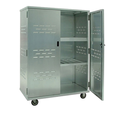 New Age 98167 Solid Security Cage w/ 3-Interior Shelves & Double