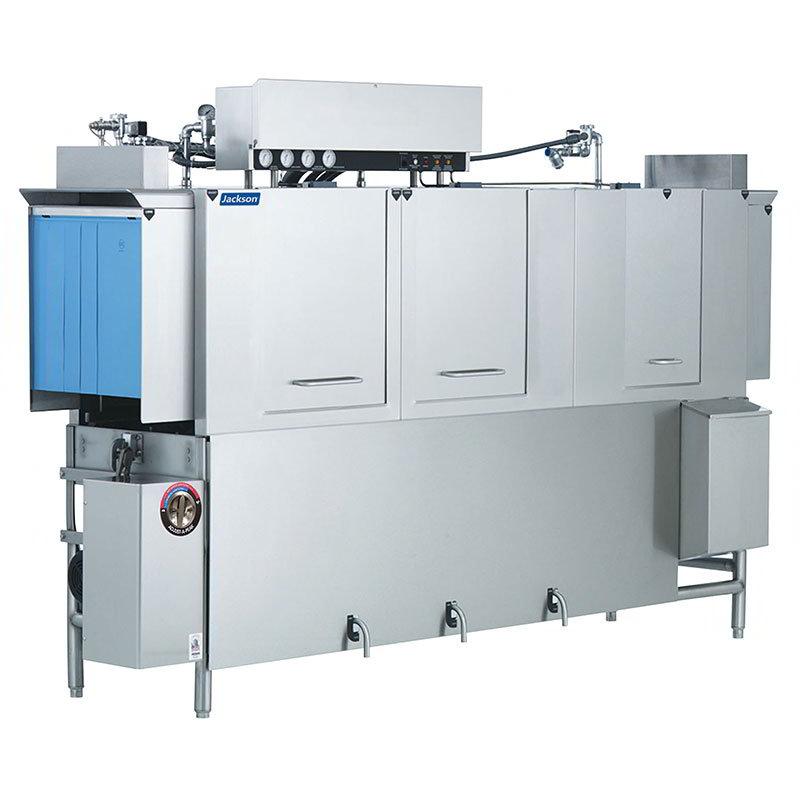 Jackson AJ100CS 2081 Conveyor Type Dishwasher w/ Steam Coil Tank Heat & 287-Racks Per Hour, 208/1 V