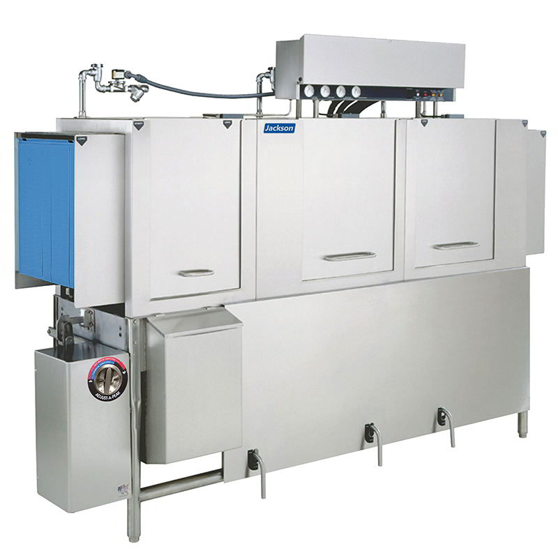 Jackson AJ86CE 2083 Conveyor Type Dishwasher 22-in Recirculating Prewash & 287-Racks Per Hour 208/3V