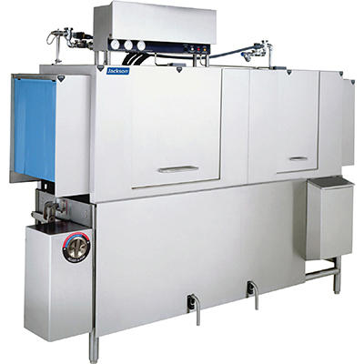 Jackson AJX90CE 2303 High Temp Conveyor Type Dishwasher w/ 225-Racks Per Hour, Single Tank 230/3V