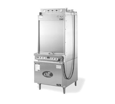 Jackson FL14G 4603 Rack Type Front Load Pot Pan Washer w/ Gas Tank Heat, 14-Pan Capacity, 460/3 V