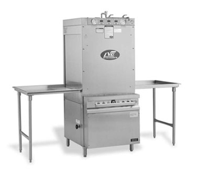 Jackson PT10S 2083 Rack Type Pass Thru Pan Washer Steam Injected Tank Heat, 10-Pan Capacity, 208/3V