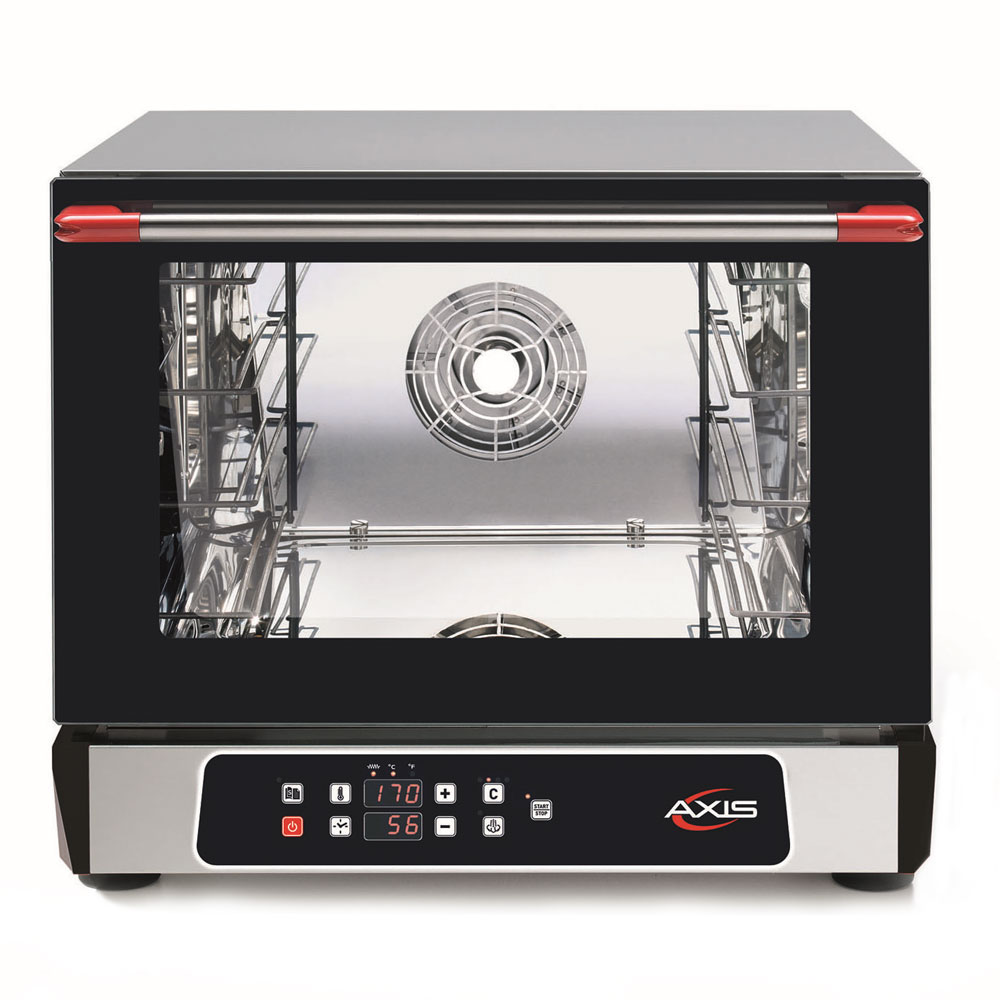 Axis AX-513RHD Countertop Convection Oven - Holds (3) 1/2-Size Pans, Humidity, Digital, 110v