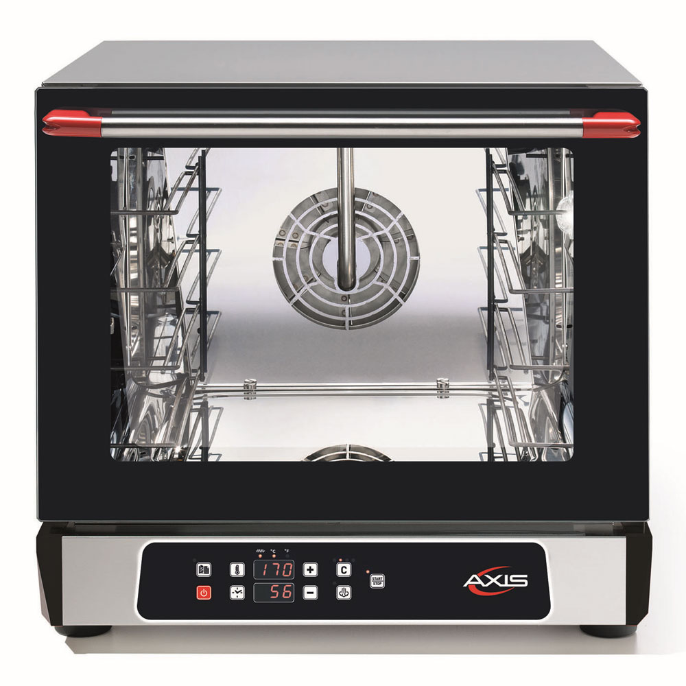 Axis AX-514RHD Countertop Convection Oven - Holds (4) 1/2-Size Pans, Humidty, Digital, 208/240v