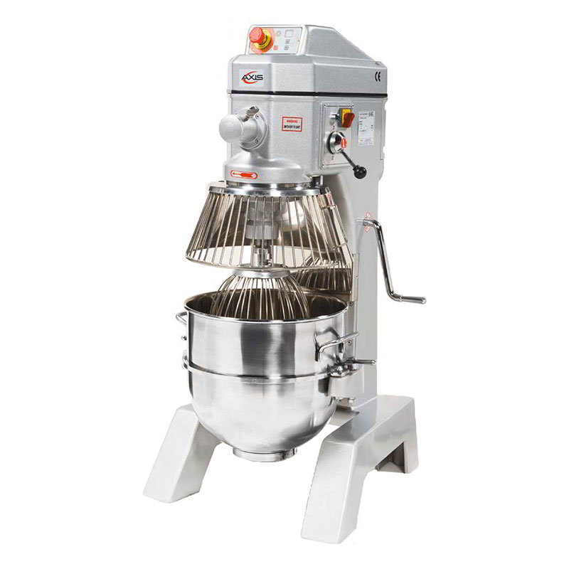 Axis AXM40 Commercial Planetary Mixer, 40 qt, Gear Driven, 3 Speed, Digital Timer