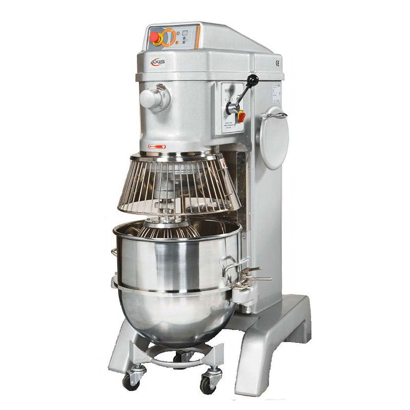 Axis AXM60 Commercial Planetary Mixer, 60 qt, Gear Driven, 3 Speed, Digital Timer