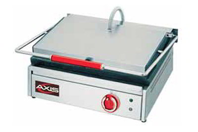 Axis AXPM Grooved Panini Toaster w/ Enamel Coated Cast Iron Plates