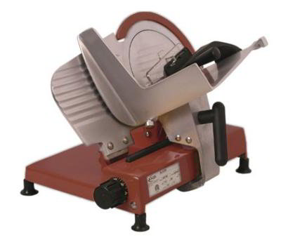 Axis AX-S9-R Light Duty Slicer, Manual, 9 in, Belt Driven, 0-5/8 Slice, 120 V, Red