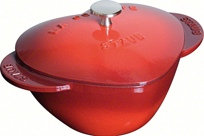 Staub 1100006 Heart Shaped Cocotte - 1.75-qt Capacity, Enamel Coated Cast Iron, Cherry