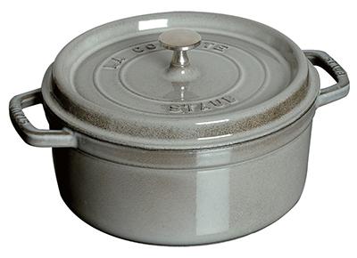 Staub 1101418 Mini Round Cocotte w/ .75-qt Capacity & Enamel Coated Cast Iron, Graphite