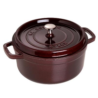 Staub 1102207 Round Cocotte w/ 2.75-qt Capacity & Enamel Coated Cast Iron, Aubergine