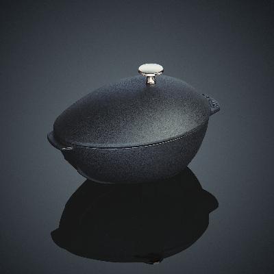 Staub 110 25 23 Mussel Pot 2 Qt Matte Black Enamel